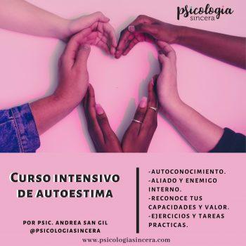 Curso Intensivo de Autoestima por Psicóloga Andrea San Gil