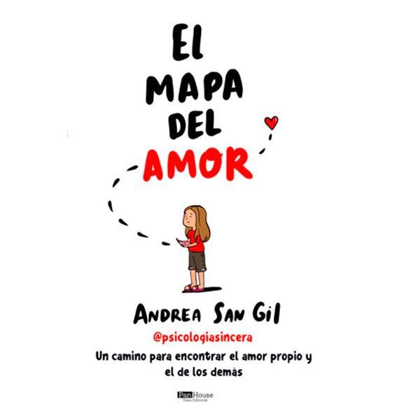 El Mapa del Amor versión impresa. Autora Andrea San Gil